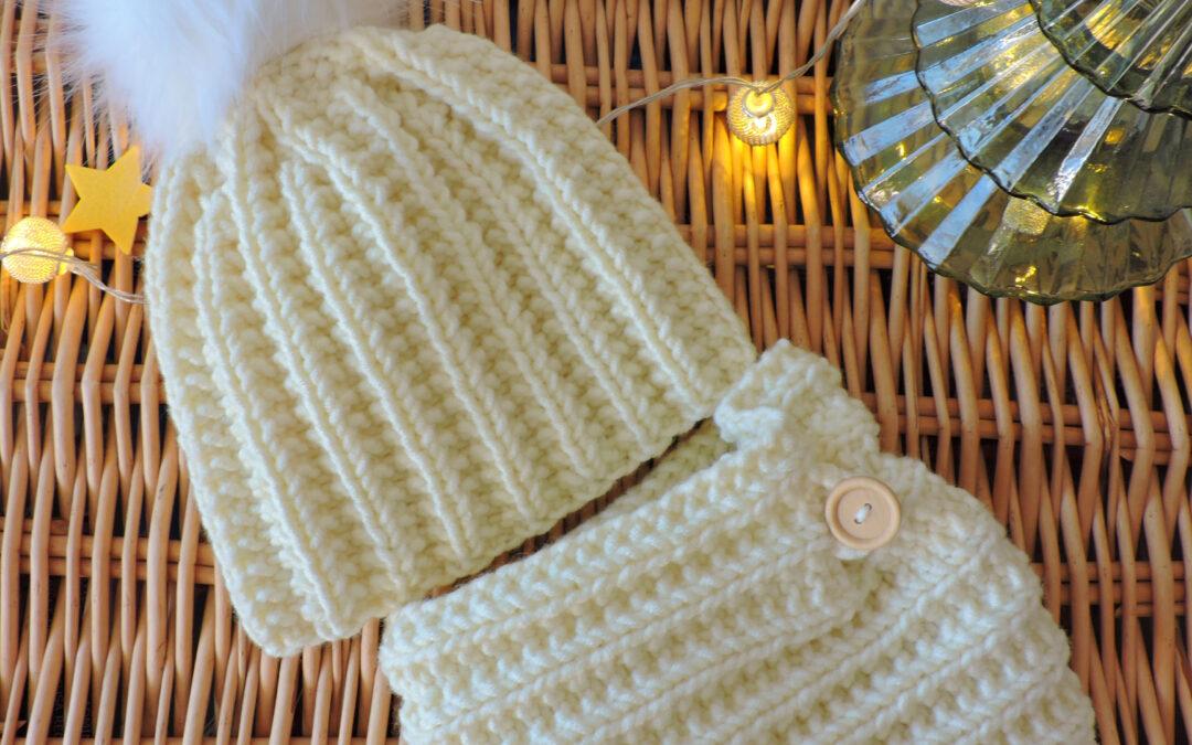 Model tricotat pentru căciuli și fulare