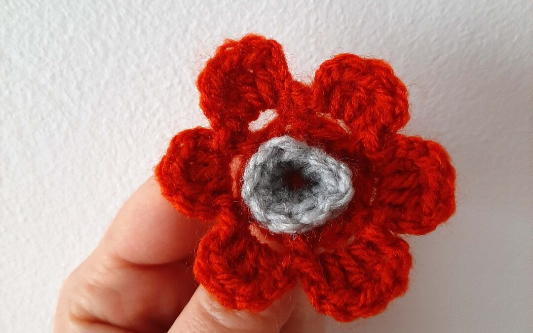 Cea mai simplă floare croșetata – Tutorial